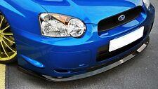 Schwarze Cup Spoiler Lippe für Subaru Impreza WRX STI Lippe Frontspoiler Schwert