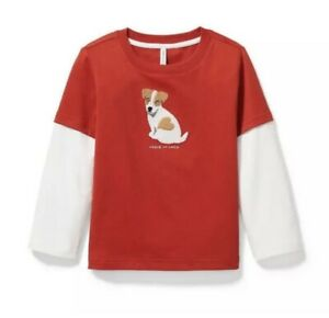 Janie And Jack Red Puppy Love Top Age 4 Retail $29 Price $18