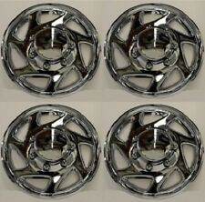 "NEW 1995-2011 FORD F250 F350 E250 E350 16"" Wheelcover Hubcap SET of 4 CHROME"