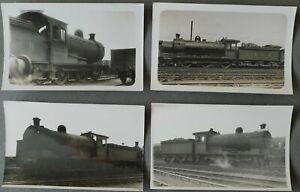 LNER EX NER CLASS J27 0-6-0 LOCOMOTIVES 2389 etc, 4 REAL PHOTO POSTCARDS