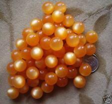 60 Lucite/acrylic/plastic beads, orange  MOONGLOW,12mm