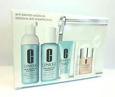 CLINIQUE Anti-Blemish Solutions Set Foam*Clarifying Lotion *Clear Treatment* Bag
