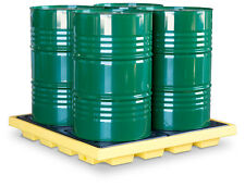 4 Drum Low Profile Drum Pallet - Economic Drum Storage System - Sump Pallet