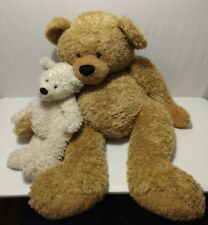 "Giant Toys R Us 38"" Animal Alley Plush Brown Teddy Bear Holding White Bear"