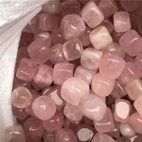 1/2lb Bulk Lot Rose Quartz Tumbled Cube Stone Crystal Healing Love Stone 12-15pc