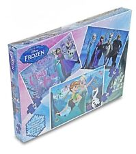 NEW OFFICIAL DISNEY FROZEN JIGSAW PUZZLE TRIO PUZZLE GAME 3 IN 1 FROZEN PUZZLES