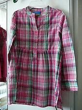 Topolino Bluse langarm Gr. 116 pink rosa grün schwarz Stehkragen