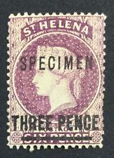 MOMEN: ST HELENA SG #42s SPECIMEN 1884-94 CROWN CA MINT OG H £ LOT #5126