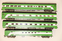 HO Rivarossi BURLINGTON NORTHERN 1930's 4 Car Passenger Set B