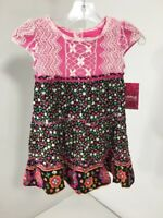 BLOOME TODDLER GIRLS FLORAL CAP SLEEVE RUFFLE DETAIL DRESS MULTICOLOR 3T NWT