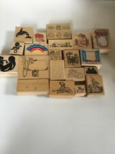 Rubber Stamp Lot rainbow food dog orca All night Media rubber stampede
