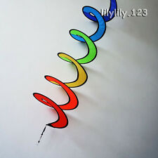 New Rainbow Spiral Kite Tail Windsock Line Laundry Kids Toys  Outdoor Fun
