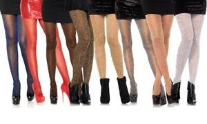 Leg Avenue Lurex Glitter Tights Fun Sparkle 65% Nylon/ 35% Ladies Costume Tight