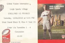 Ticket - England v France 12.06.2010 @ Leigh Sports Village