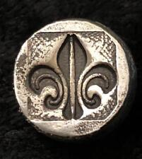 ".5 oz  MK BarZ ""Mini Chunk Round-Fleur De Lis"" Hand Poured Bar .999FS"