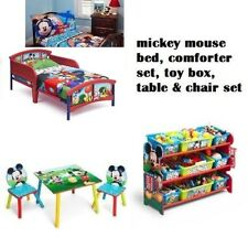 New listing Disney Mickey Mouse Toddler 3D Bed 4pc. Comforter Set Toy Chest Table & Chairs