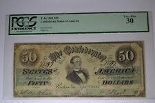 T16 $50 1861 PF-15 Cr. 92.  PCGS Very Fine 30.