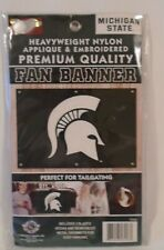Michigan State Spartans Logo Nylon Flag 2 ft x 3 ft Tailgating Banner New Ncaa