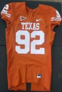 Nike Authentic Team Issued Texas Longhorns UT Football Jersey Orange Home #92 Lg
