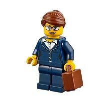 LEGO CITY BUSINESS WOMAN Dark Blue Suit Briefcase Glasses GIRL MINIFIGURE 60134
