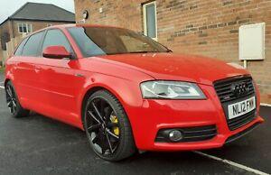 *REDUCED* 2012 Audi A3 2.0 TDI S-Line Quattro Black Edition 170 Misano Red.
