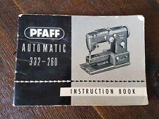 Vintage Pfaff Sewing Machine Instruction Book 332-260