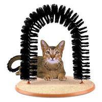 Amazing Pet Cat Arch Bristles Kitten Self-Groomer Massager Scratcher Catnip Toy