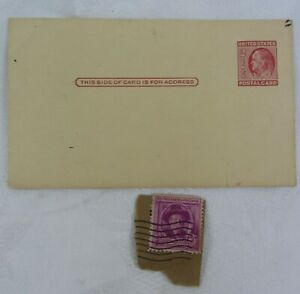 3 Cent Stamp Honoring Joel Chandler Harris & 2 Cent Blank Post Card