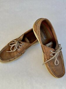 Sperry Top-Sider Billfish Casual Shoes for Men, Sz 11 Leather Dark Tan Lace Up