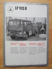 Mercedes Benz Lp 1113B & L 408 lucha contra el fuego vehículo 1974 prospecto Folleto