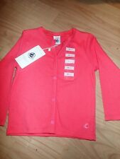 Petit Bateau Girls Tube Knit Pink Cardigan 2yrs BN