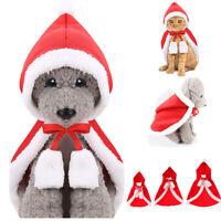 manteau Chapeau Chaud Cape pour animaux de compagnie Noël Peluche Chien - chat