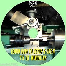 7X10 MINI LATHE MACHINE SKILLS/TECHNIQUES EASY TO FOLLOW VIDEO GUIDE DVD NEW