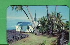 1957 Postcard Hawaii National Park - St. Pauls By The Sea Church  - P854