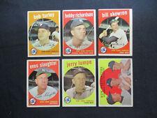 1959 Topps Baseball Set Break New York Yankees Team Lot (18 different)