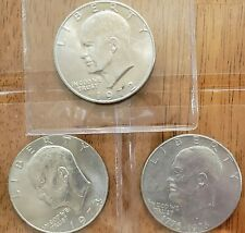 3 Different Eisenhower **** Ike Dollars **** Check It Out!  #AA086-1