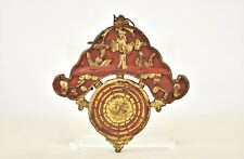 Antique Chinese Red Gilt Wood Panel, the Eight Trigrams, YinYang, Tai Chi, Bagua