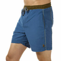 Mens Luke 1977 The Boxer Piped Shorts In Petrol Blue From Get The Label
