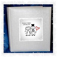 White Cartoon tissue interleaved album Large personalised Wedding Present #7
