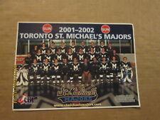 Ohl Toronto St.Michaels Majors Vintage Defunct Circa 2001-2002 Hockey Team Photo