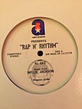 RADIO SHOW: RAP N' RHYTHM w/AL GEE 11/10/74 GUESTS: CHOICE FOUR & MILLIE JACKSON
