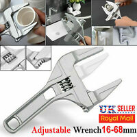 Adjustable Spanner Wrench Tool Wide Jaw Large Hand Nut Opening 16-68MM Steel Key