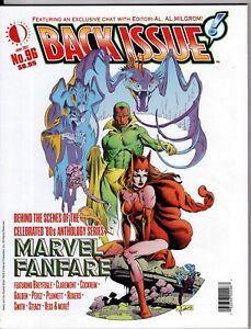 BACK ISSUE MAGAZINE # 96 FANZINE MARVEL FANFARE VISION SCARLET WITCH AL MILGROM