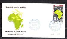 Mauritanie  enveloppe 1er jour  organisation unité Africaine   1966