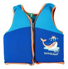 Swim School Trainer Vest Level 2 Age 4 - 6 Years 50 lb Max UPF 50 Blue