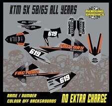 KTM SX 50 65 Motocross Graphics Kit Decals Stickers MX All Years REY