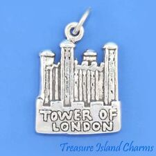 TOWER OF LONDON ENGLAND UK UNITED KINGDOM .925 Sterling Silver Charm Pendant