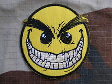 D064 ECUSSON PATCH toppa aufnaher THERMOCOLLANT SMILEY PSYCO rock /diam 7.2 cm