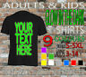 GLOW IN THE DARK T-SHIRT  PERSONALISED MEN WOMAN STAG HEN KIDS ANY TEXT NAME