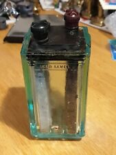 Glass acid Battery  jar 1920s 30s 2v made in England with internal electrodes